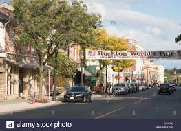 thanksgiving weekend canada king street dundas town centre hamilton ontario canada stock