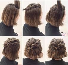 Hochsteckfrisurenen F Kurze Haare Zum Selber Machen Leicht by Die Besten 25 Schulterlanges Haar Ideen Auf Medium