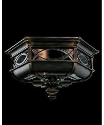 wrought iron flush mount lighting fine art ls 611682 warwickshire 21 inch wide 3 light outdoor