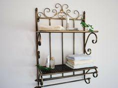 Wrought Iron Bathroom Shelves Iron Shelf Shelves For Bathroom And Towel Rail On Pinterest