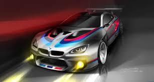 mobil balap bmw rilis teaser mobil balap m6 gt3 sebelum debut balapnya di 2016