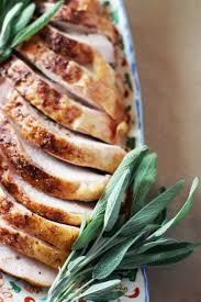 cinnamon rubbed roasted turkey breast set the table