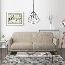 Beige Fabric Sofa Archer 3 Seater Fabric Sofa Bed In Stone Beige Furniture123