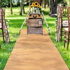 burlap wedding aisle runner burlap aisle runner ebay