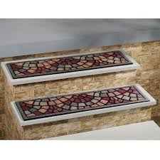 flooring charming mosaic non slip stair treads for stair care