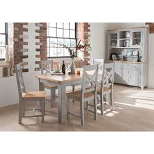 dining room table ls vida living clemence grey solid oak painted extending dining set
