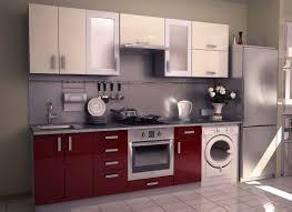 pretty kitchen unit styles for a small single wall modular concept