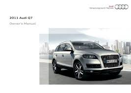 2011 audi q7 u2014 owner u0027s manual u2013 392 pages u2013 pdf