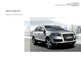 2011 audi q7 u2014 owner u0027s manual u2013 392 pages u2013 pdf