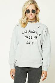 los angeles raw cut sweatshirt forever21