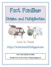 math fact families multiplication division 22 best fact families images on fact families