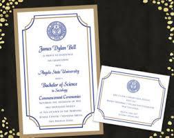 college graduation announcements college graduation announcement etsy