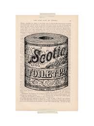 Vintage Bathroom Decor by Dictionary Art Print Vintage Bathroom Decor By Exlibrisjournals