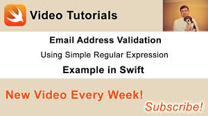 email validation pattern regex email address validation with simple regular expression in swift