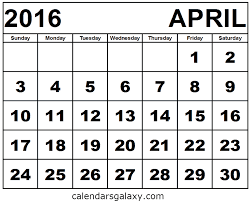 april 2016 free calendar monday through sunday calendar template
