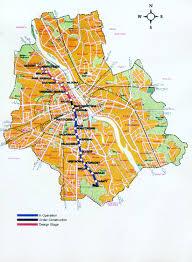 Metro Subway Map by Warsaw Subway Map My Blog