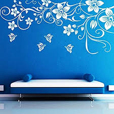 Home Decoration Wall Stickers Buy Decor Kafe Decal Style Butterfly Floral Wall Sticker Wall