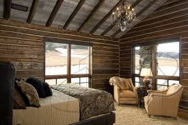 Traditional Master Bedroom - traditional master bedroom design with cool wood walls italian