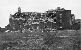 Old Castle Curtain Wall Scarborough Bombardment 1914 Historic England