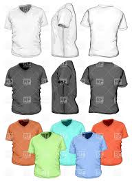 blank v neck t shirt design template vector clipart image 5122
