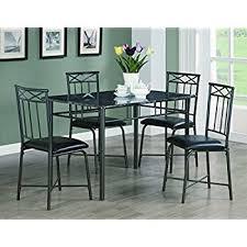 amazon com coaster home furnishings 150115 5 piece casual dining