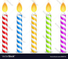 birthday candle birthday candles royalty free vector image vectorstock