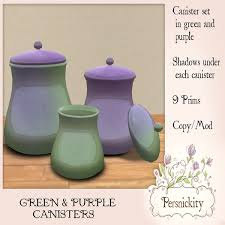 purple canisters for the kitchen second marketplace green purple canisters
