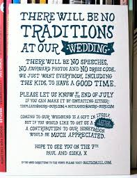 casual wedding invitations i like the frank tone but there will be speeches and awkwardness