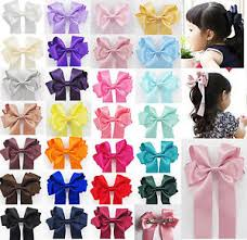 ribbon boutique new handmade satin ribbon boutique ponytail hair bow