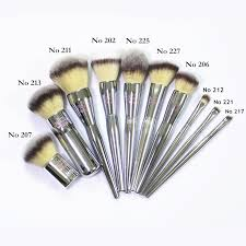 brand metal professional makeup brushes 10 pcs it brush for ulta powder contour foundation make