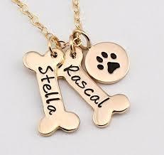 personalized paw print necklace dog bone paw print charm necklace 1 2 3 4 5 6 7