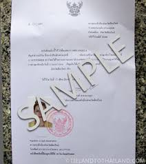 Certification Letter For Address Proof How To Get A Thai Residence Certificate Tieland To Thailand
