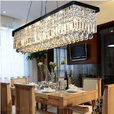 dining table light fixture linear crystal chandelier pendant light fixtures what size for