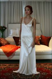 bridal nightgown satin off white wedding lingerie venise lace