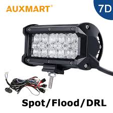 12v led light bar auxmart 7 inch 60w led light bar 7d cree chips led bar 12v 24v