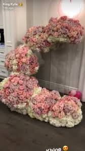 flower arrangements kylie jenner baby stormi webster flower arrangements