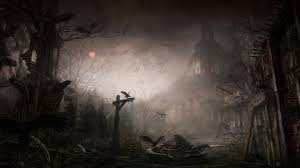 halloween trees background creepy landscape wallpapers background landscape wallpapers