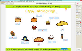 thanksgiving vocabulary mastertool hooray 6 work on vocabulary reading and writing