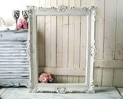 white ornate vintage frame large farmhouse white open frame