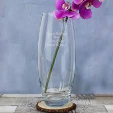 Bullet Vase Personalised Glass Gifts Tapered Bullet Vase Find Me A Gift