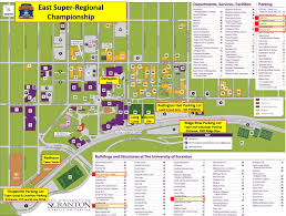 Virginia Tech Campus Map Parking Ftc East Super Regional Championship