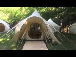 Bell Tent Awning Lotus Belle Tent Porch Awning Youtube