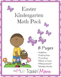 free easter printables kindergarten math pack the multi taskin