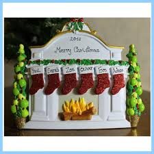 personalized resin fireplace christmas ornament buy blank