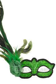 madame mardi gras mask green purecostumes