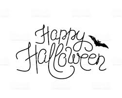 happy halloween vector vector illustration of happy halloween lettering sign stock vector