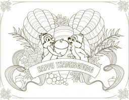 disney thanksgiving placemats to and color thanksgiving