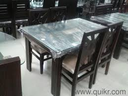 Seater Solid Wood Dining Table Almost Home Office Furniture - Glass top dining table hyderabad