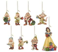 jim shore heartwood creek set of 8 snow white ornaments page 1