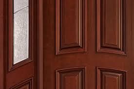 Exterior Door Varnish Front Door Custom Single With 2 Sidelites Solid Wood With